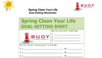 Sping Cleaning GOAL SHEET - Larry Jacobson